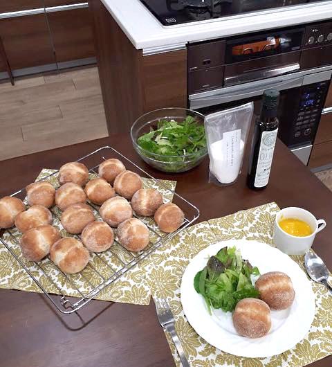 ガスオーブンを使った『手ごねパン体験教室』開催