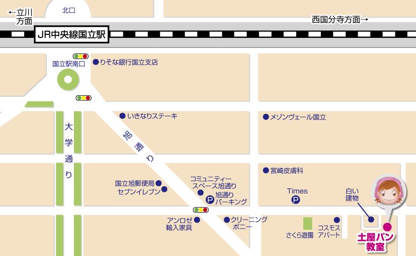土屋パン教室-新キッチンスタジオ地図
