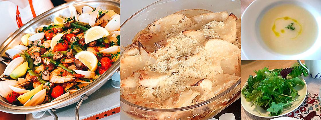 季節のお野菜を使ってイタリア料理
