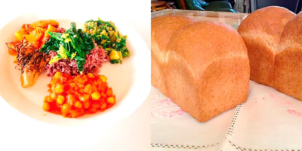 6月16日:全粒粉の食パン/自然栽培の野菜カレー