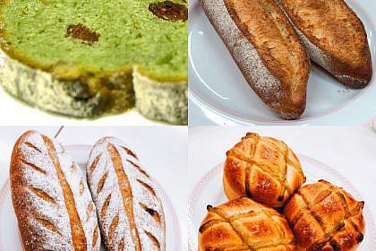 シュトーレン&セーグル・オ・カレンツ、栗のほうじ茶ブレット&ほうじ茶クリームパン