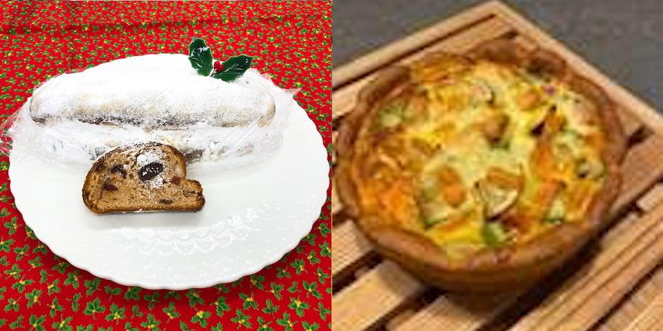 クリスマスメニュー:2020スペシャルシュトーレン/パンのグラ・キッシュ