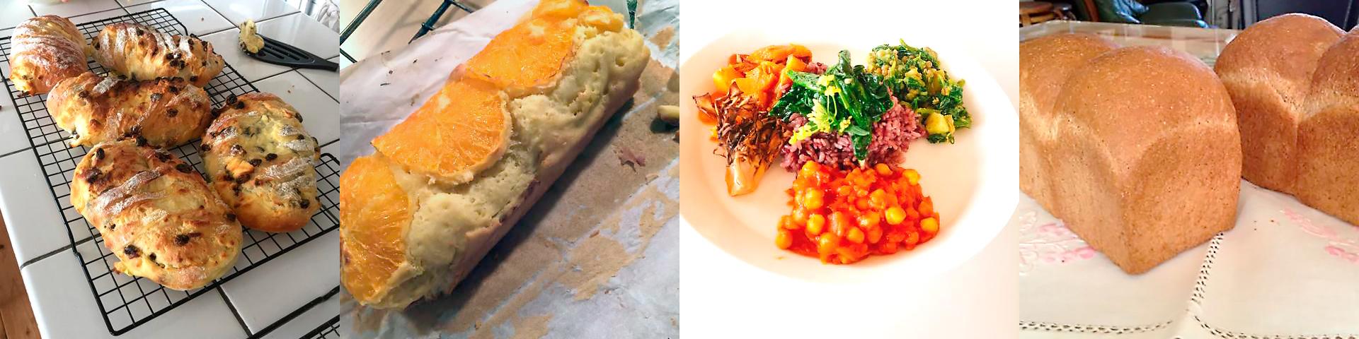 シトロンハード/自然栽培の野菜カレー/全粒粉の食パン/ケーク・デイ・オレンジの組み合わせ